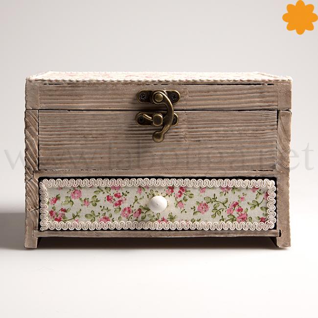 Joyero caja rústica decorada
