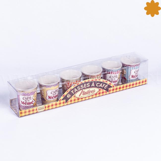 juego de 6 tazas Café