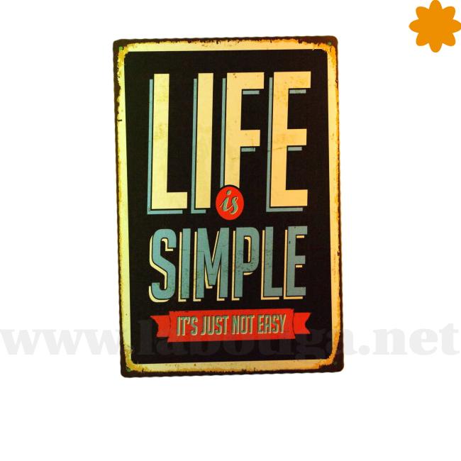 La vida es simple no fácil.