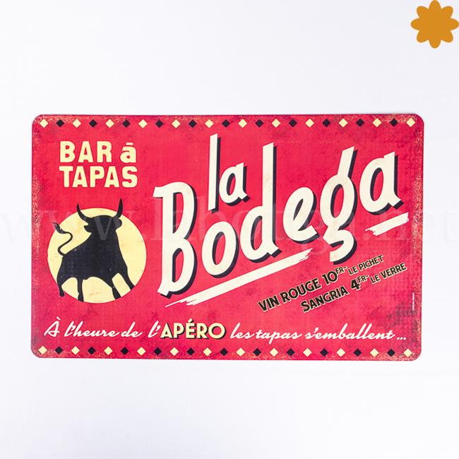 Mantel Individual La Bodega Bar de Tapas como cartel antiguo vintage