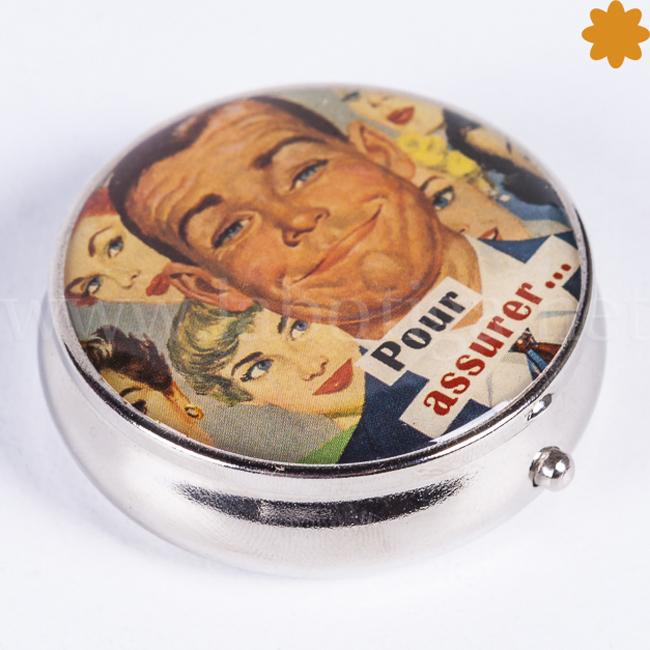 Pastillero de Bolsillo Vintage