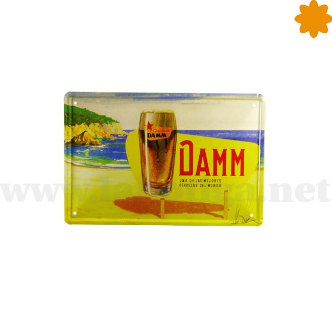 Placa publicitaria de la cerveza Estrella Damm