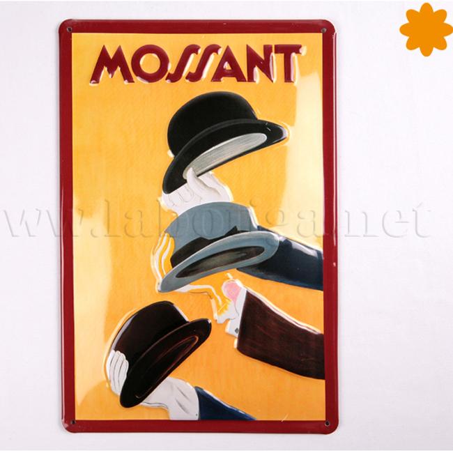 Placa de metal cartel publicitario retro de Mossant