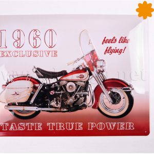 placa met lica retro moto chopper 1960
