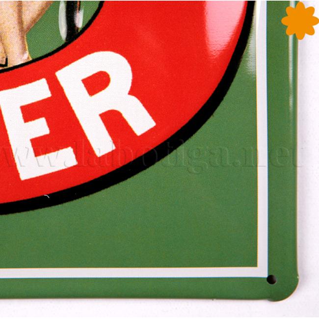 Placa metálica vintage Cartel publicitario