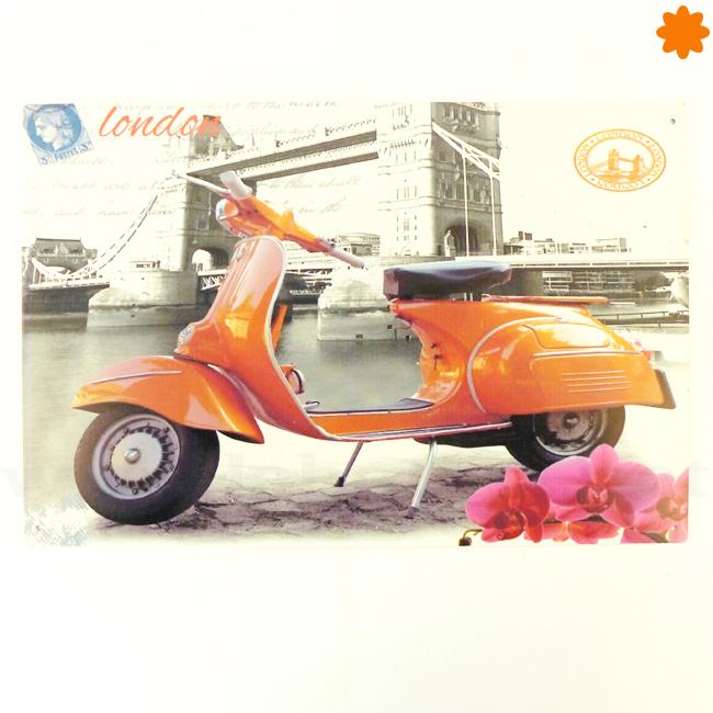 placa vintage scooter