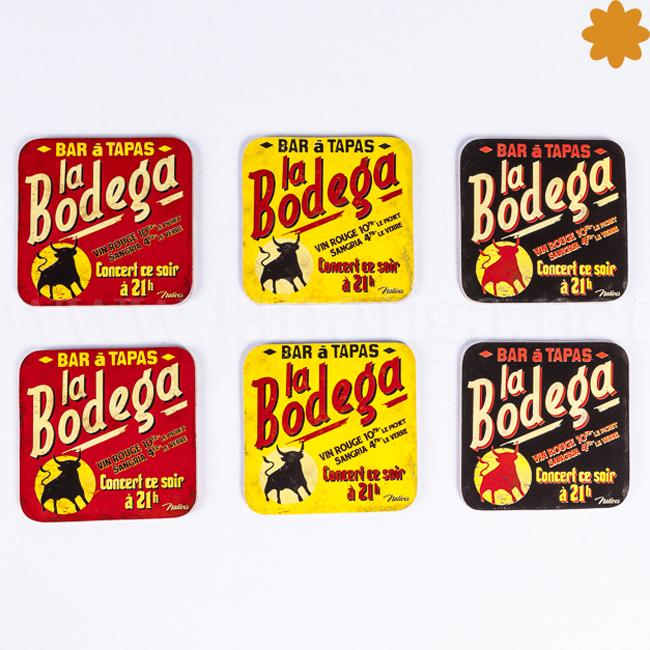 Posavasos de corcho vintage retro La Bodega