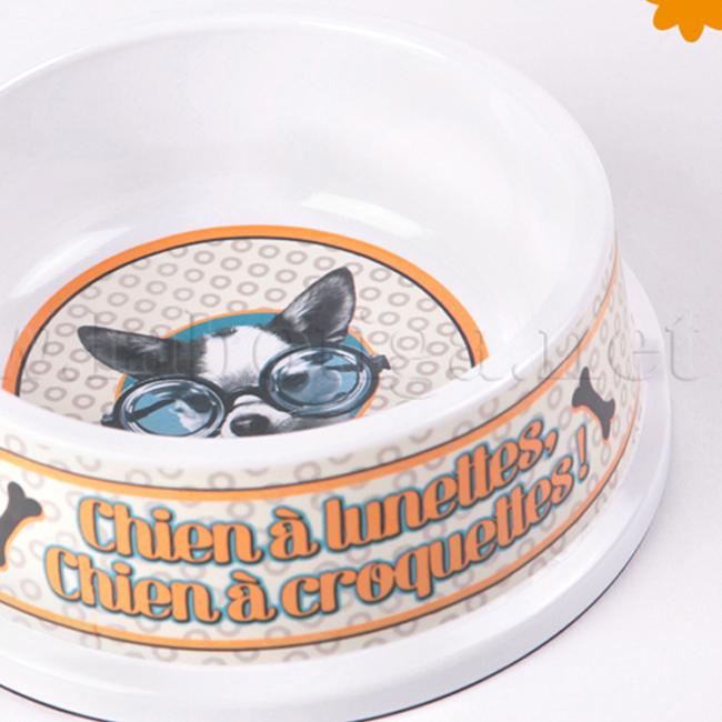 Recipiente comida perro chien a lunettes
