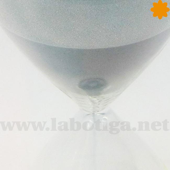 reloj de arena de color gris