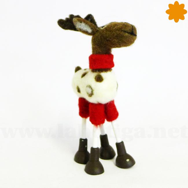 Figurita del reno Rudolph de santa claus
