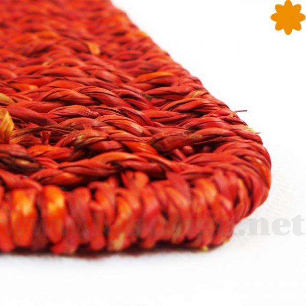 salva mesas rustico de color rojo tostado ideal para la mesa