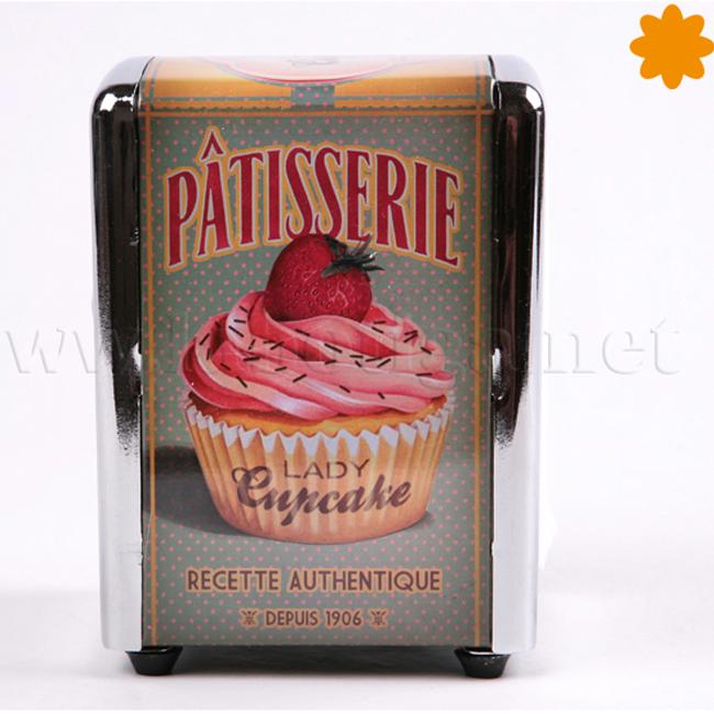 Dispensador de servilletas Patisserie Lady Cupcake