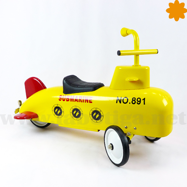 Correpasillos submarino amarillo