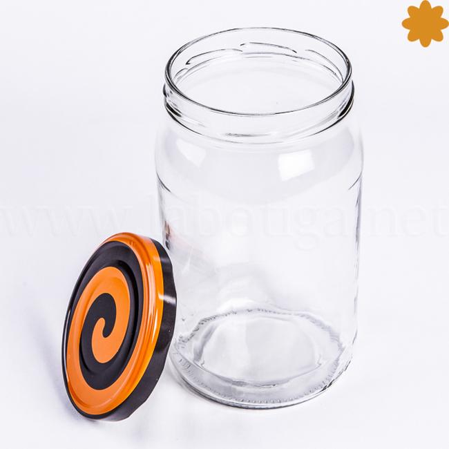 Tarro cristal de 1 litro con cierre hermético ideal conservas caseras