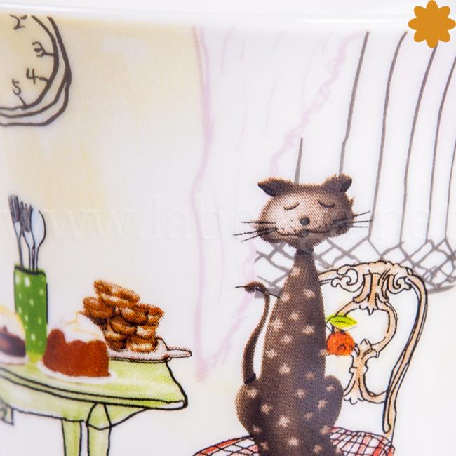 Taza cerámica gatos