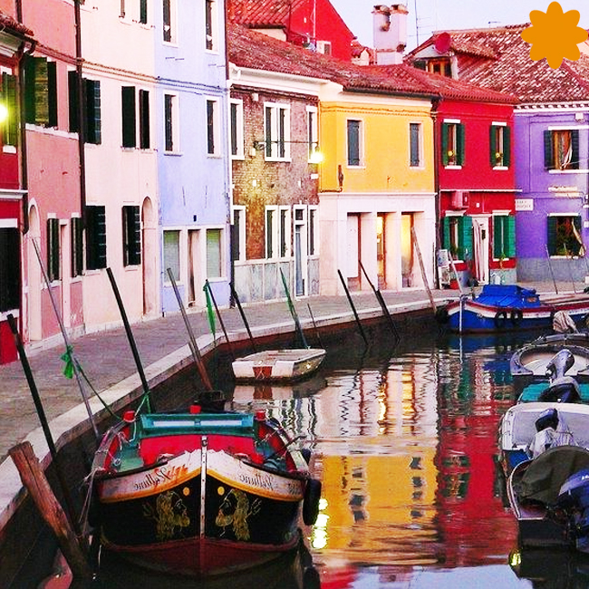 elegante guirnalda estilo Venezia