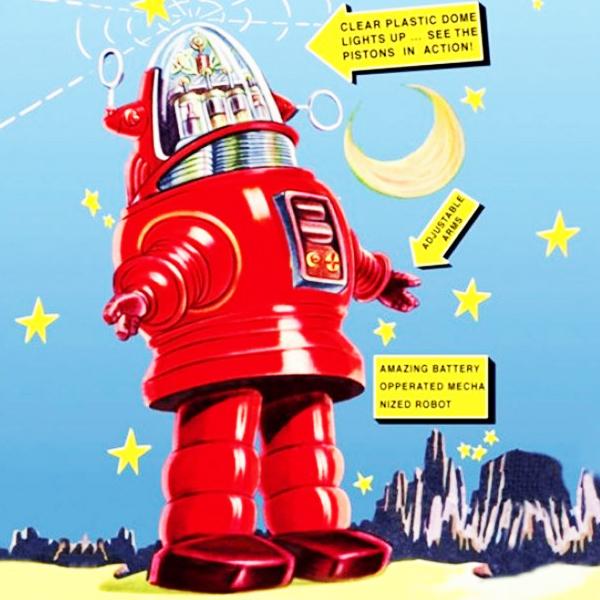 Retro Robots del Espacio de juguete