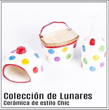 Cerámica de colección topos y lunares