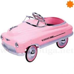 Coche a pedales clasico de color rosa Commet 40s