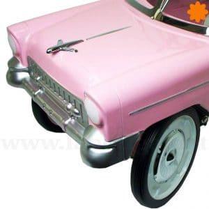 Coche de pedales Chevy del 55 color rosa