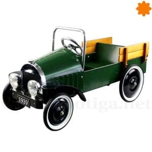 Coche de pedales Pick-Up de color verde
