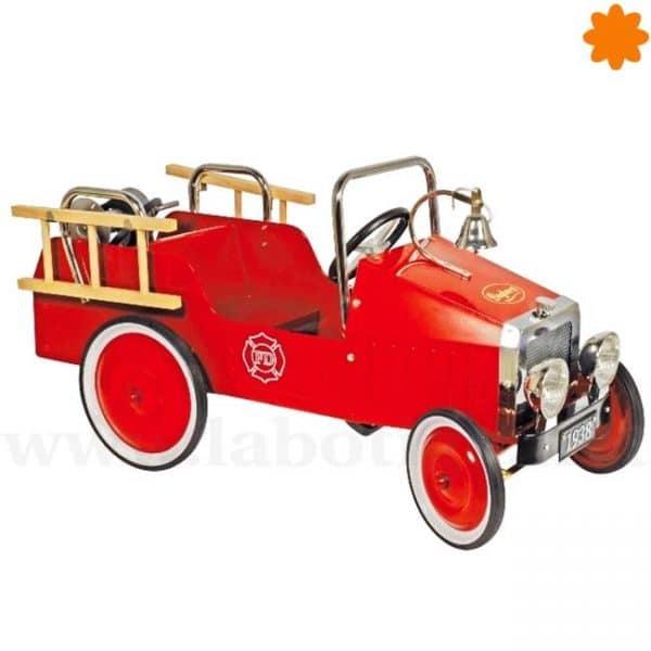 Coche de pedales camión de Bomberos rojo