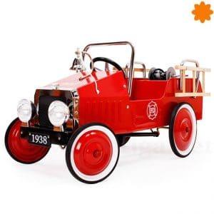 Coche de pedales clásico Camión de Bomberos Rojo