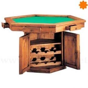 Mesa de madera rústica ideal para jugar