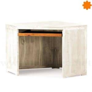 Mesa escritorio esquinera de color blanco