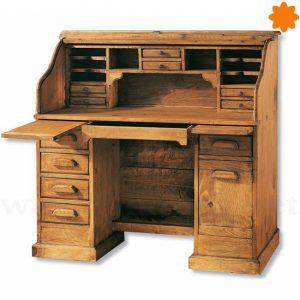 Mueble escritorio secreter de estilo rústico