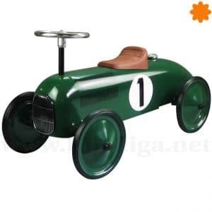 Original correpasillos de época en color verde Coche clásico