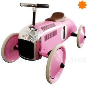 Súper correpasillos coche de carreras rosa número 1
