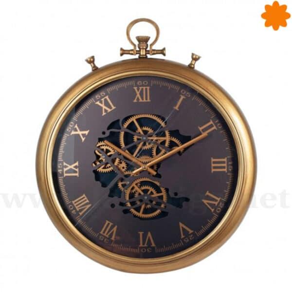 Gran reloj dorado de estilo de bolsillo para colgar en la pared
