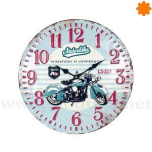 Reloj de pared de hierro colado Motrbike (40cm)