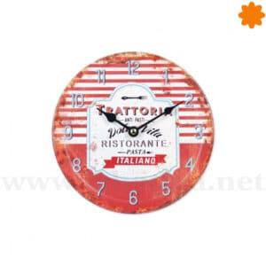 """Reloj de pared Vintage """"Ristorante Italiano Dolce Vita"""""""