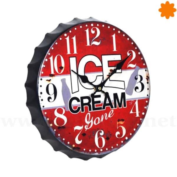 El reloj de pared Ice Cream ideal para decorar en una heladería