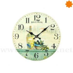Reloj de pared ideal para la cocina dedicado al aceite