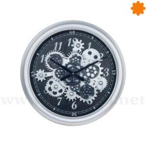 Reloj de estilo Steampunk con engranajes en movimiento