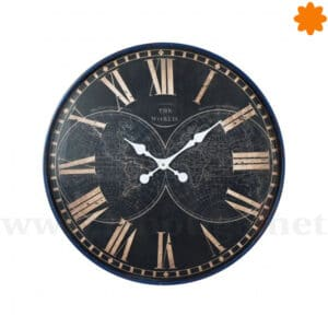 Reloj de pared con números romanos - The World (60cm)