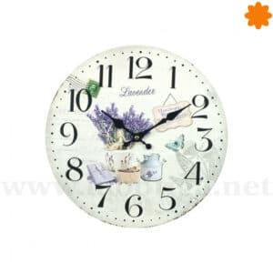 """Reloj para colgar temática Lavanda: """"Laveder Garden"""""""