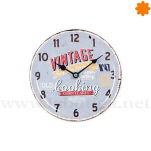 "Reloj de pared Vintage ""Looking Corn Flakes"""