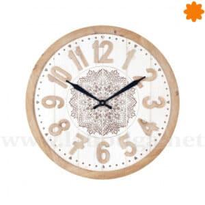 Acerca de este reloj de pared de madera estilo Country