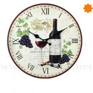 "Reloj de pared dedicado al vino ""Chateau La Tour"""