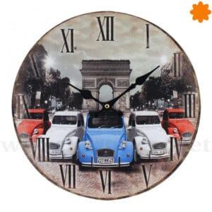 Reloj de colgar decorado con Citroen 2 caballos