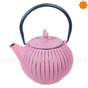 Tetera de hierro fundido redonda rosa