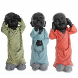 3 figuras de buda el que no ve, el que no oye y el que no habla